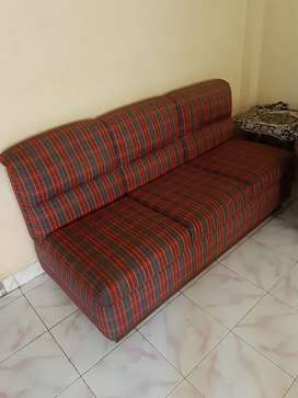 Three Seater Sofa. Teakwood base