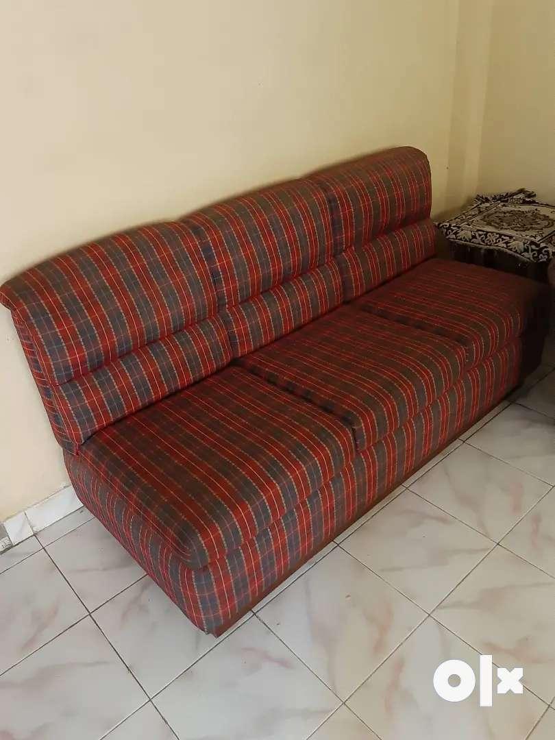 Three Seater Sofa. Teakwood base