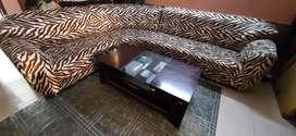 L Shape detachable Cushion Sofa Set