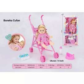 Boneka dan stroller
