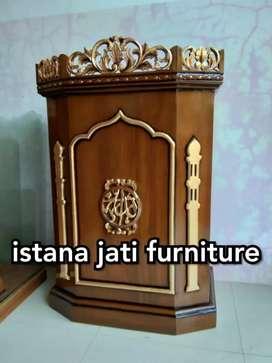 Tersedia mimbar masjid dan musholla ( podium mimbar jati )