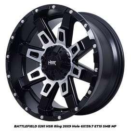 Velg Mobil Prado Ring 20 Model Terbaru HSR BATTLEFIELD BMF