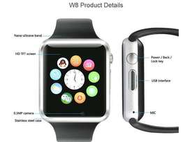 Smart Watch A1 -Sim Supported -Silver , Black