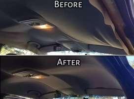 Car head liner restoration and repair