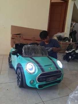 Mini cooper mobil aki anak