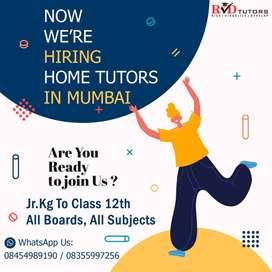Offering Home Tutors Jobs In Mumbai