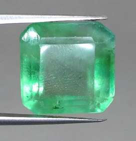 Batu Permata Hijau Green Fluorite Rasa Zamrud Besar Asli