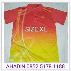 New baju kaos kerah badminton yonex lining by ahadin