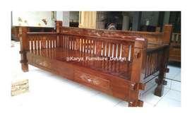 bale bale jati, daybed kayu ukir minimalis jepara mpb19942