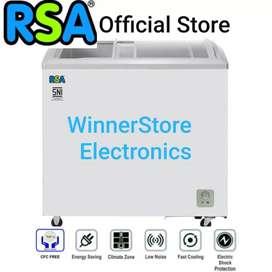 New Kulkas Freezer Kaca RSA 210liter #ModelBaruu