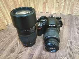 JUAL SANTUY NIKON D3200 KIT 18-55mm + lensa tamron AF 70-300mm