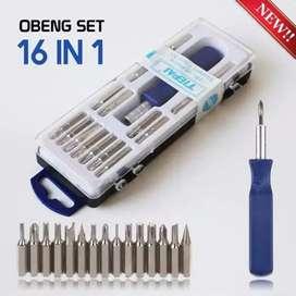 HS Obeng reparasi HP set 16 in 1 Serbaguna