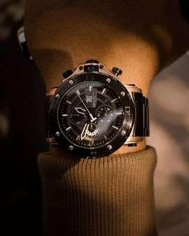 Jam tangan pria T5 chainman black original