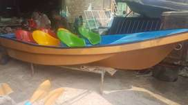 boat with colorful chairs