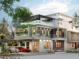 4 BHK 4309 sqft Villa in 10 Cents for sale at Cheranalloor, Ernakulam