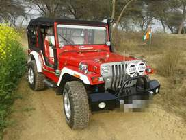 Stylish silver paint Front Red Jeep