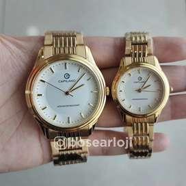 Jam Tangan Capilano 0967 Gold Dial White