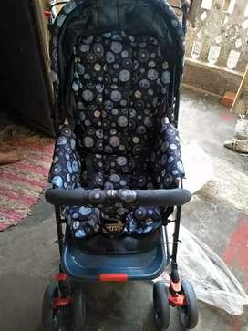 blue colour bby buggy