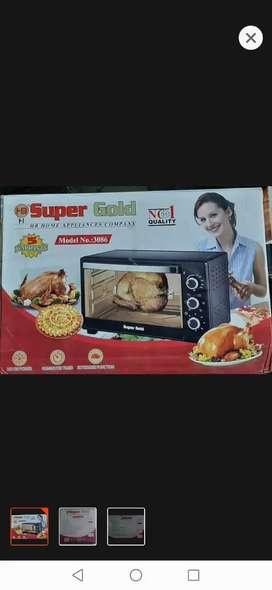 Electronic oven with rotisserie