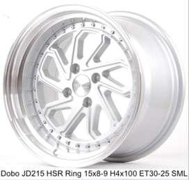 jual velg model DOBO JD215 HSR 15X8-9 4x100 mobil brio jazz