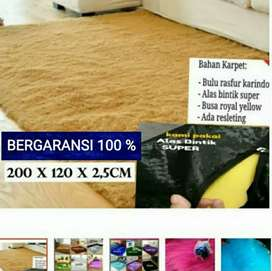 karpet bulu rasfuf 200 x 120 tebal 2,5 cm bintik anti slip
