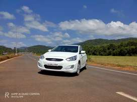 Sparkling white well maintained Verna Fluidic SX 1.6L diesel for sale