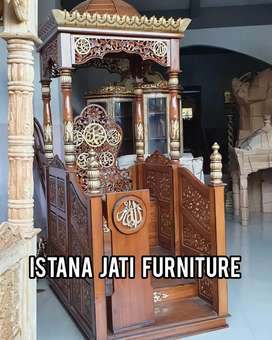Podium Mimbar masjid minimalis khutbah ceramah keagamaan