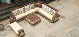 Brand new L shape sofa set with center table