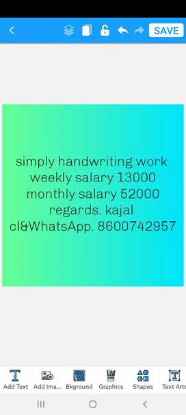 Good handwriting easy to earn