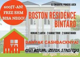 Rumah 2 lantai termurah, nyaman, mewah super good deal di Bintaro!