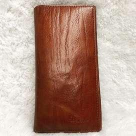 BARONES Genuine Leather  Preloved dompet pria warna coklat