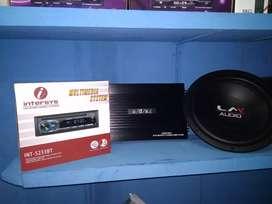 Paket singledin DVD bluetooth power adx subwofer LM 12inc