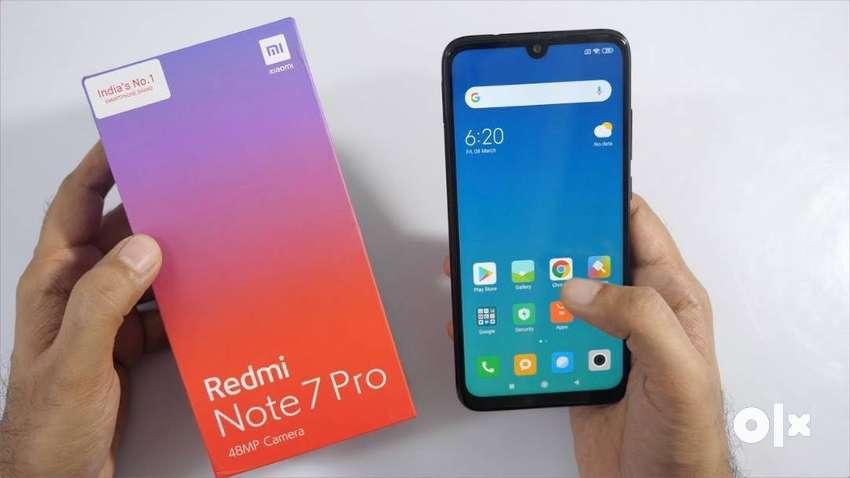 Redmi Note 7 Pro  Box Pack  4GB Ram-64GB Internal. 0