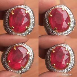 Natural Ruby Mozambique Cutting Bukan Zamrud, Safir Ceylon