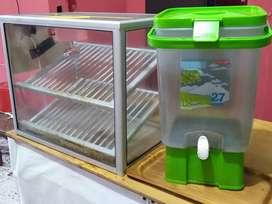 Rak/Etalase Ayam Krispy + Kontainer/Galon Air Minum (NEGO)
