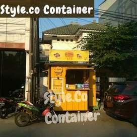 BOOTH CONTAINER | BOOTH SEMI CONTAINER | CONTAINER USAHA CAFE KEDAI