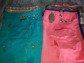 Lite blue saree and pink saree