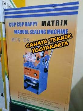 (CAHAYA TEKNIK JOGJA) mesin pres gelas cup sealer matrix d8