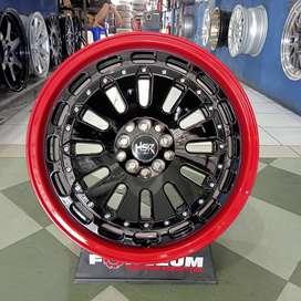 Velg Mobil Xpander HSR MYTH07X HSR R18X8 H10X100-114,3 ET40 RED BK FAC