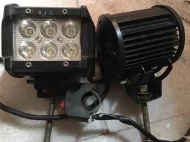 Bike LED fog lights + switch