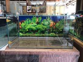 Di jual baru aquarium background 80x40x40