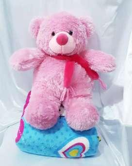 (Realpict)Boneka+Selimut Bear Pink