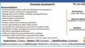 Looking for Personal Assistant (Famale)