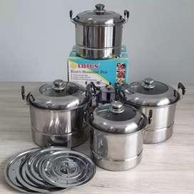 Panci steamer set,lotus steamer pot,harga terjangkau