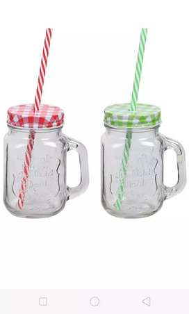 Glass smoothie jar