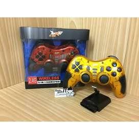 Gamepad wireless u/ PS dan usb comp