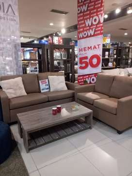 Sofa set disc 50% kredit cukup bayar 199.000