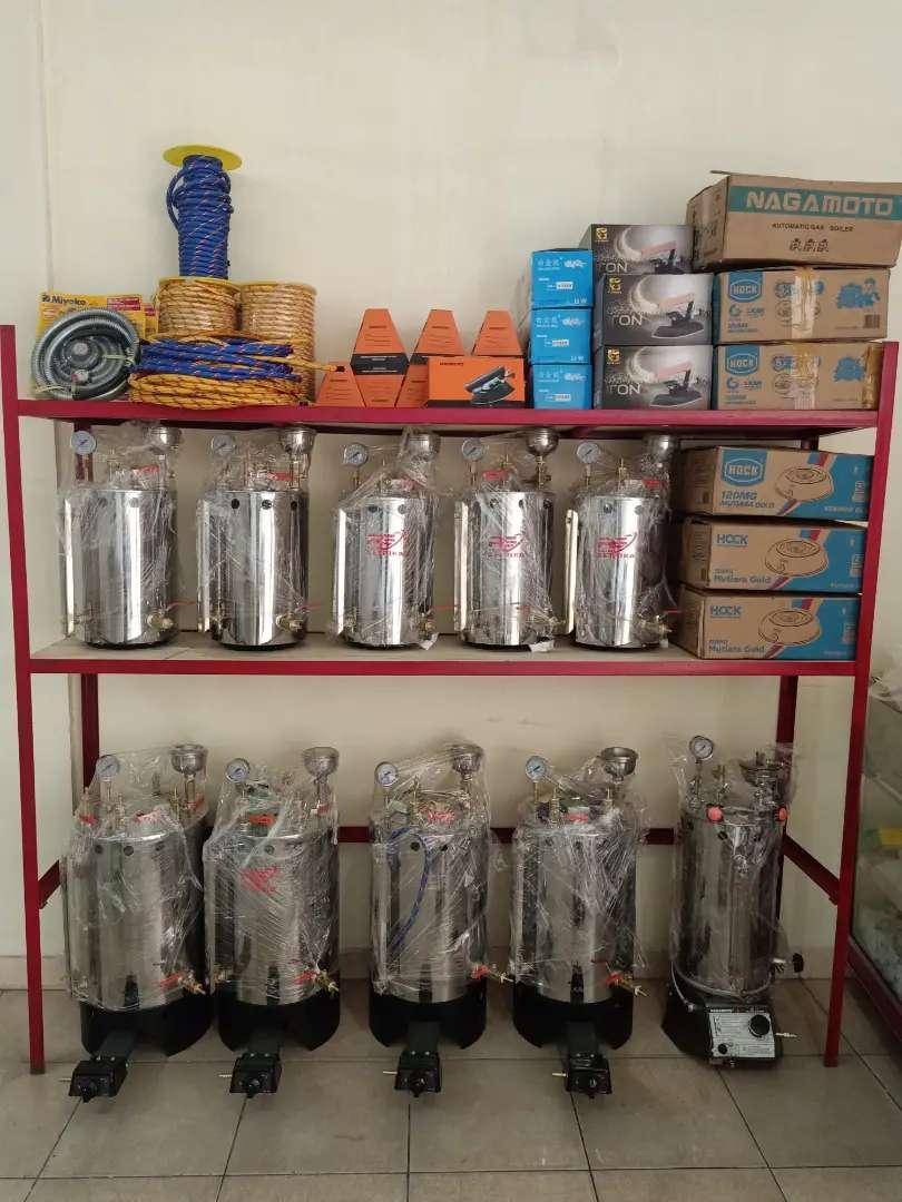 Setrika uap boiler manual / otomatis