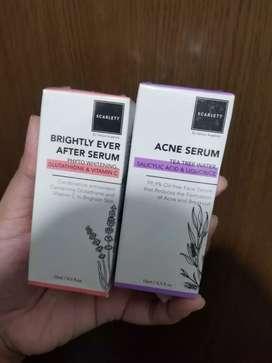 scarlett serum acne + brightly