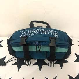 Supreme Waistbag Fw19 Original (Dark Teal Color)